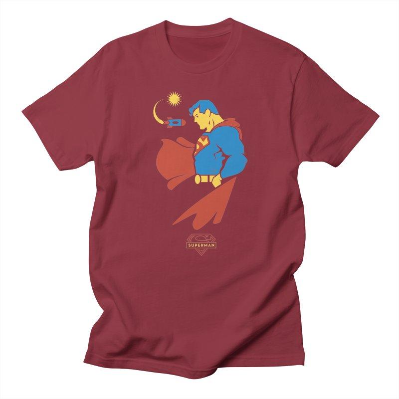 Superman - DC Superhero Profiles Men's T-Shirt by daab Creative's Artist Shop