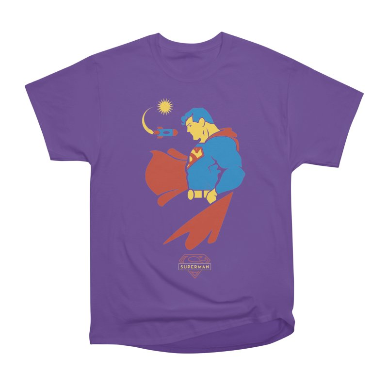 Superman - DC Superhero Profiles Women's Heavyweight Unisex T-Shirt by daab Creative's Artist Shop