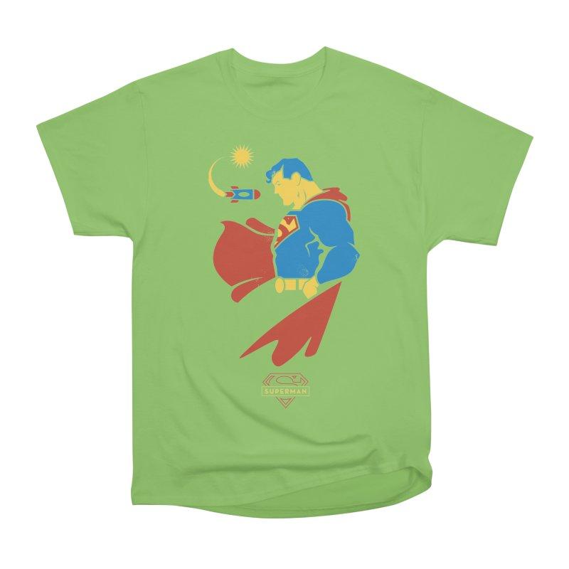 Superman - DC Superhero Profiles Men's Heavyweight T-Shirt by daab Creative's Artist Shop