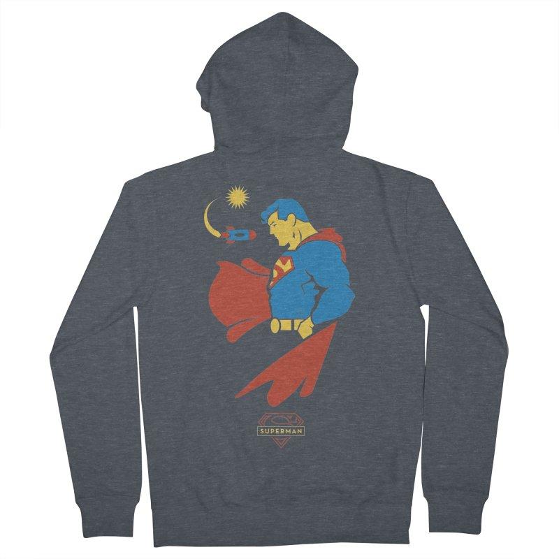 Superman - DC Superhero Profiles Women's French Terry Zip-Up Hoody by daab Creative's Artist Shop