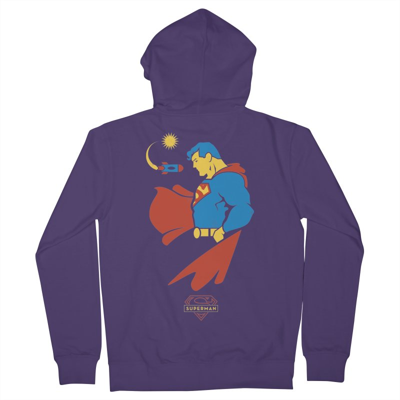 Superman - DC Superhero Profiles Women's Zip-Up Hoody by daab Creative's Artist Shop