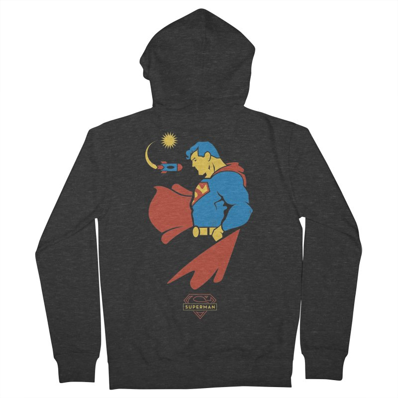 Superman - DC Superhero Profiles Men's French Terry Zip-Up Hoody by daab Creative's Artist Shop