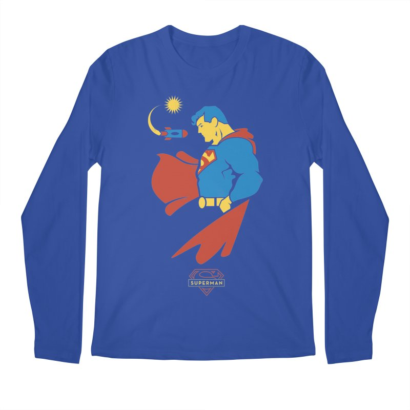 Superman - DC Superhero Profiles Men's Regular Longsleeve T-Shirt by daab Creative's Artist Shop