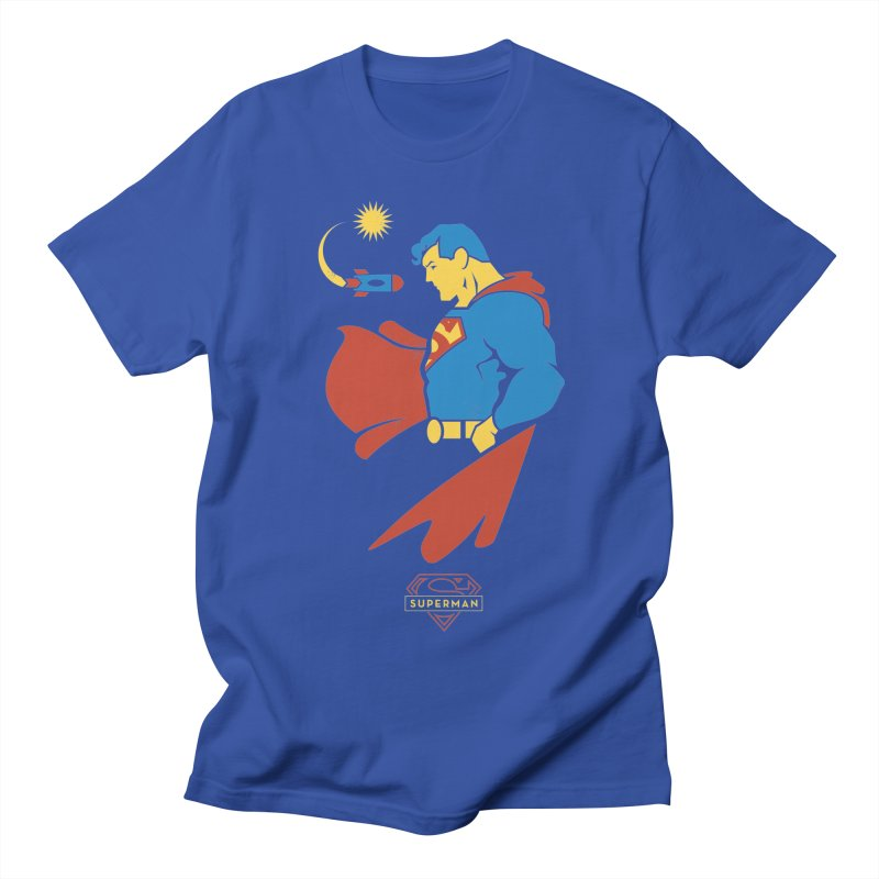 Superman - DC Superhero Profiles Men's T-Shirt by daab Creative's Artist Shop