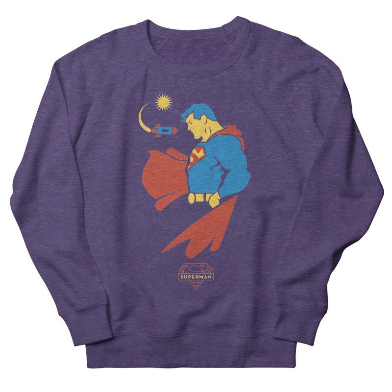 Superman - DC Superhero Profiles Women's French Terry Sweatshirt by daab Creative's Artist Shop