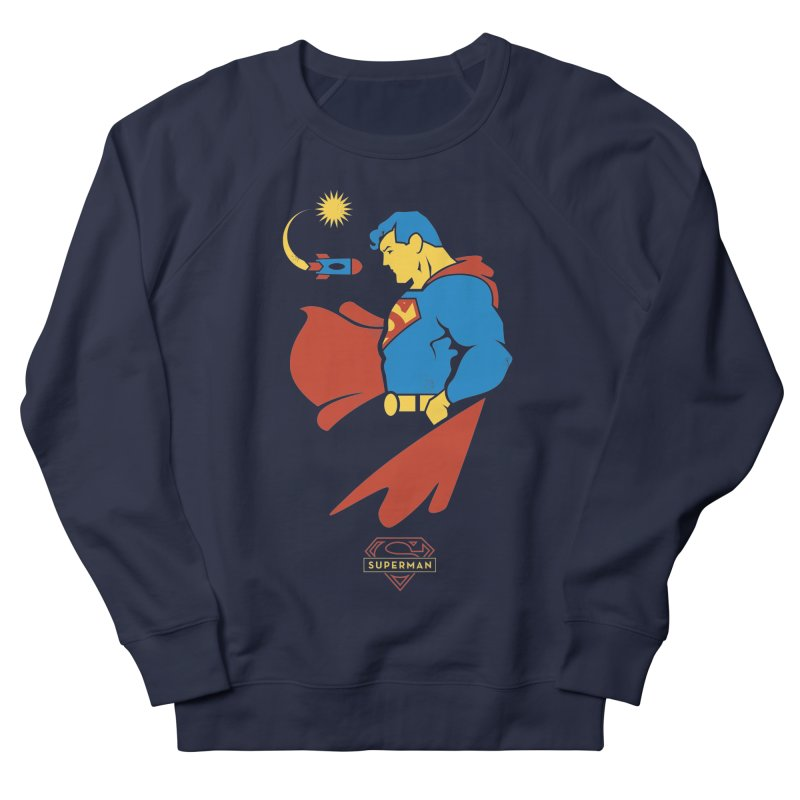 Superman - DC Superhero Profiles Women's French Terry Sweatshirt by daab Creative's Artist Shop