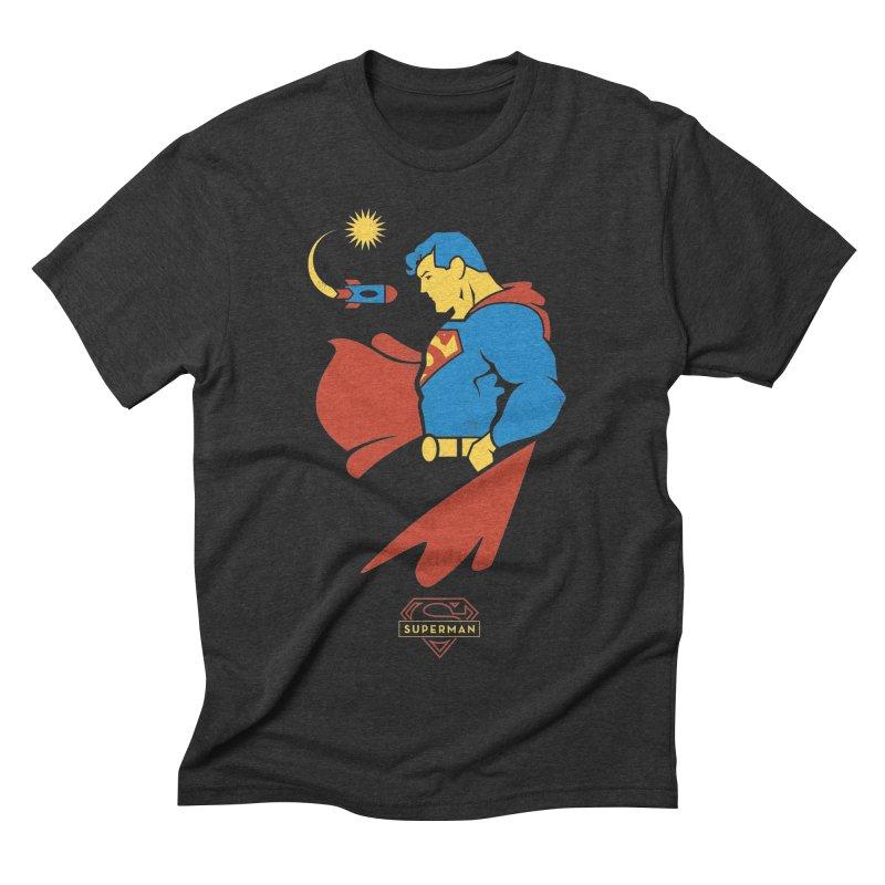 Superman - DC Superhero Profiles Men's Triblend T-Shirt by daab Creative's Artist Shop