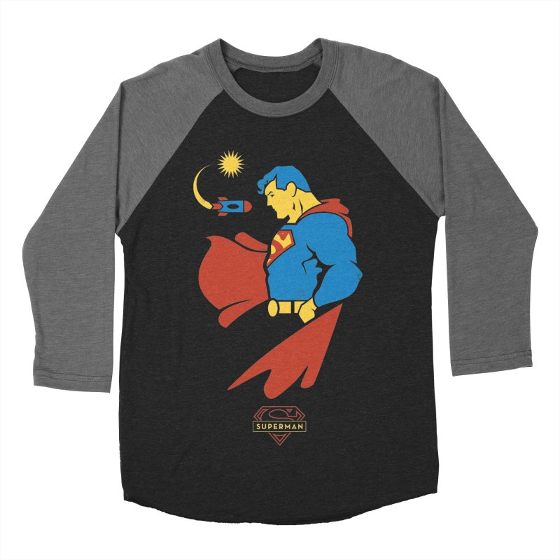 Superman - DC Superhero Profiles Women's Baseball Triblend Longsleeve T-Shirt by daab Creative's Artist Shop
