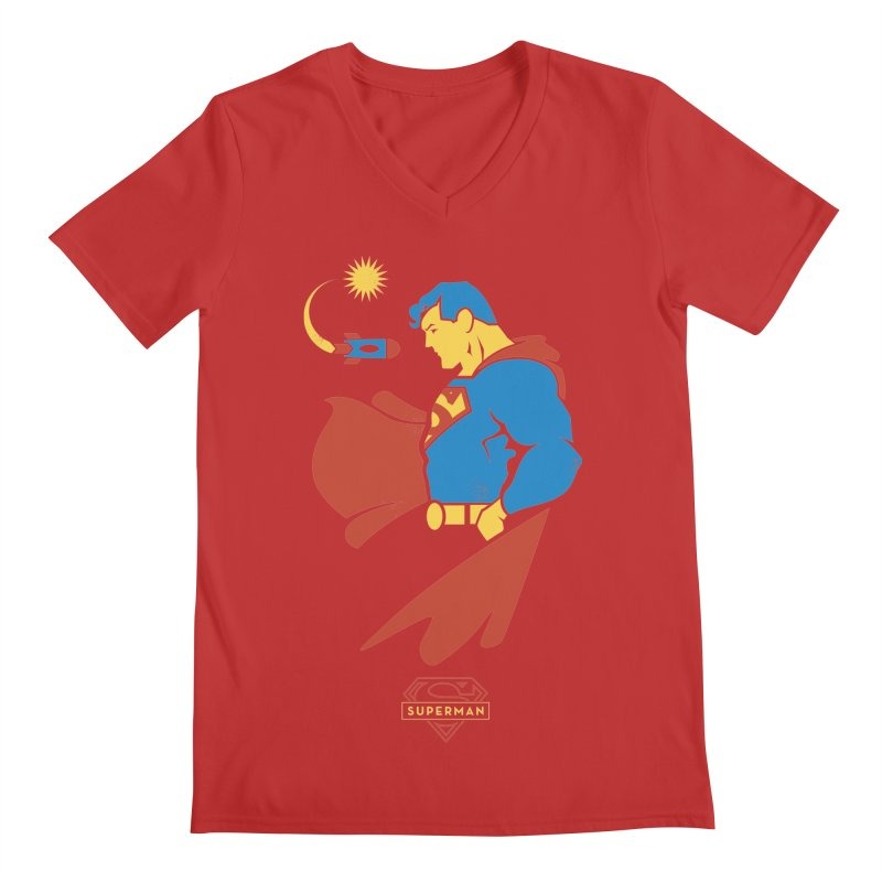 Superman - DC Superhero Profiles Men's V-Neck by daab Creative's Artist Shop