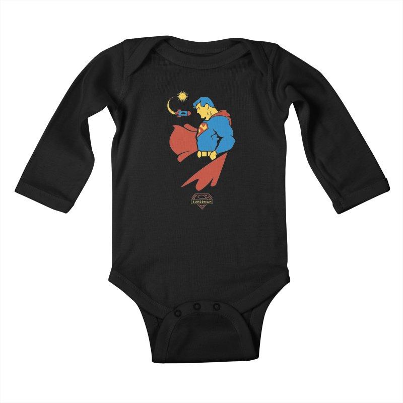 Superman - DC Superhero Profiles Kids Baby Longsleeve Bodysuit by daab Creative's Artist Shop