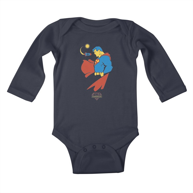 Superman - DC Superhero Profiles Kids Baby Longsleeve Bodysuit by daab Creative's Artist Shop
