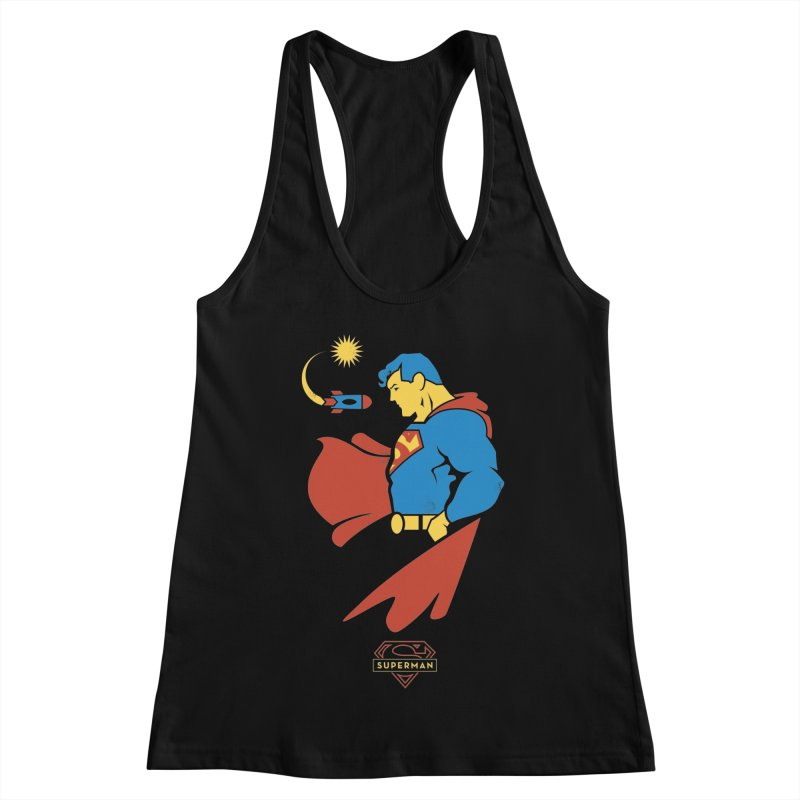Superman - DC Superhero Profiles Women's Racerback Tank by daab Creative's Artist Shop