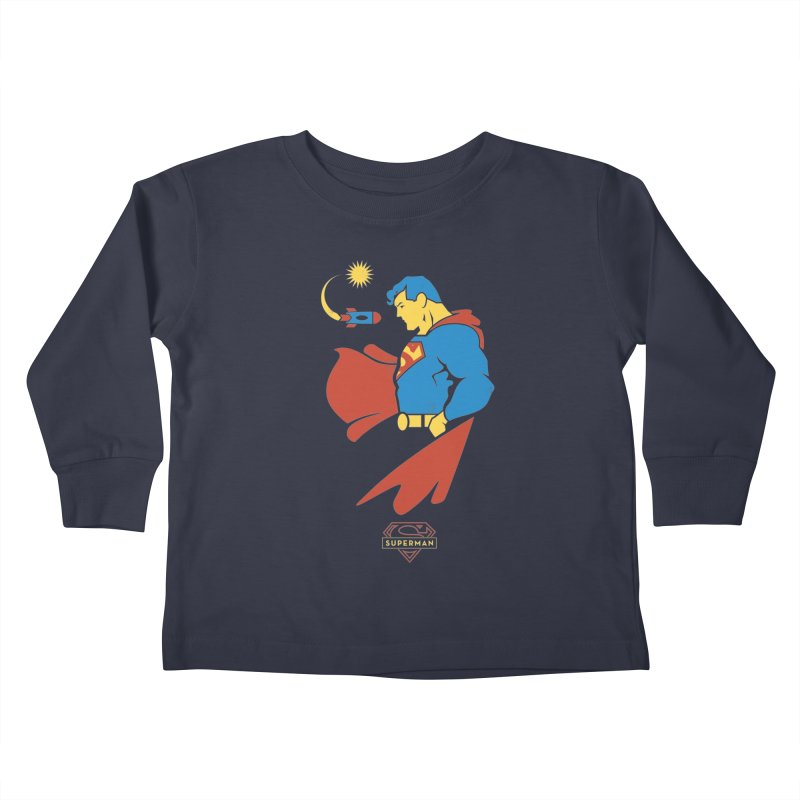 Superman - DC Superhero Profiles Kids Toddler Longsleeve T-Shirt by daab Creative's Artist Shop