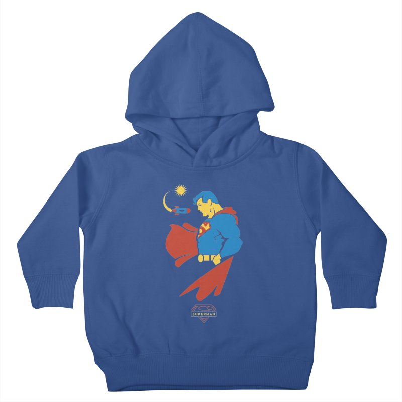 Superman - DC Superhero Profiles Kids Toddler Pullover Hoody by daab Creative's Artist Shop