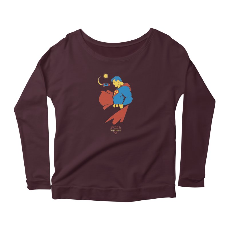 Superman - DC Superhero Profiles Women's Scoop Neck Longsleeve T-Shirt by daab Creative's Artist Shop
