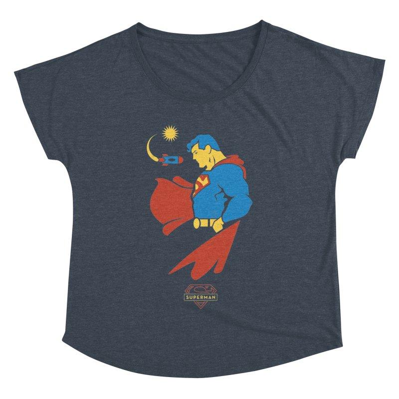 Superman - DC Superhero Profiles Women's Dolman Scoop Neck by daab Creative's Artist Shop