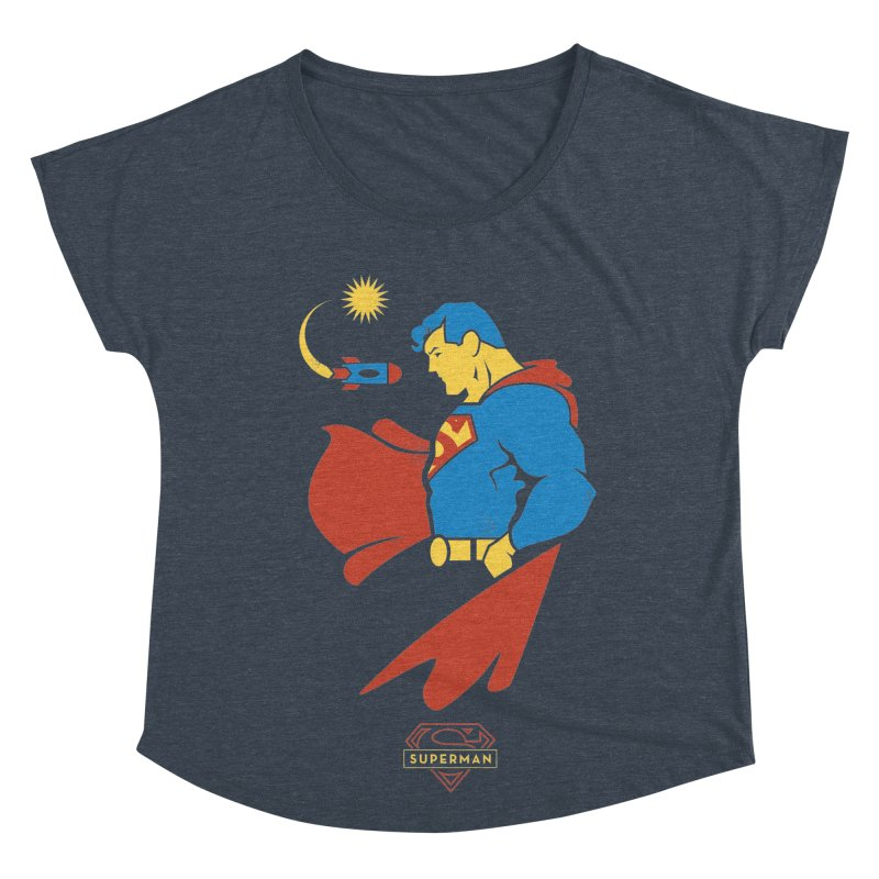 Superman - DC Superhero Profiles Women's Scoop Neck by daab Creative's Artist Shop