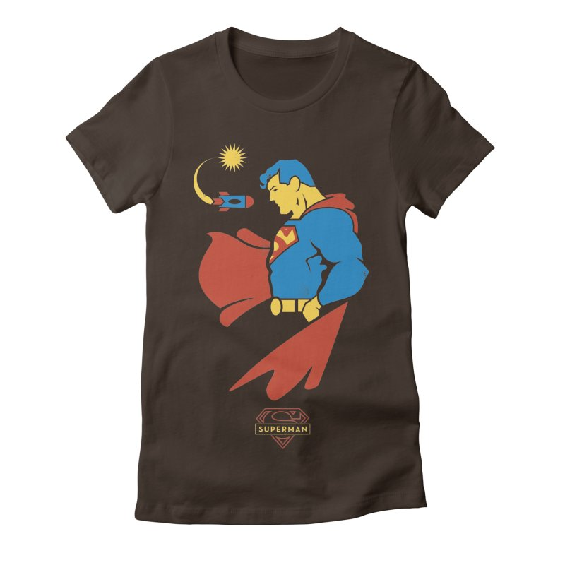 Superman - DC Superhero Profiles Women's Fitted T-Shirt by daab Creative's Artist Shop
