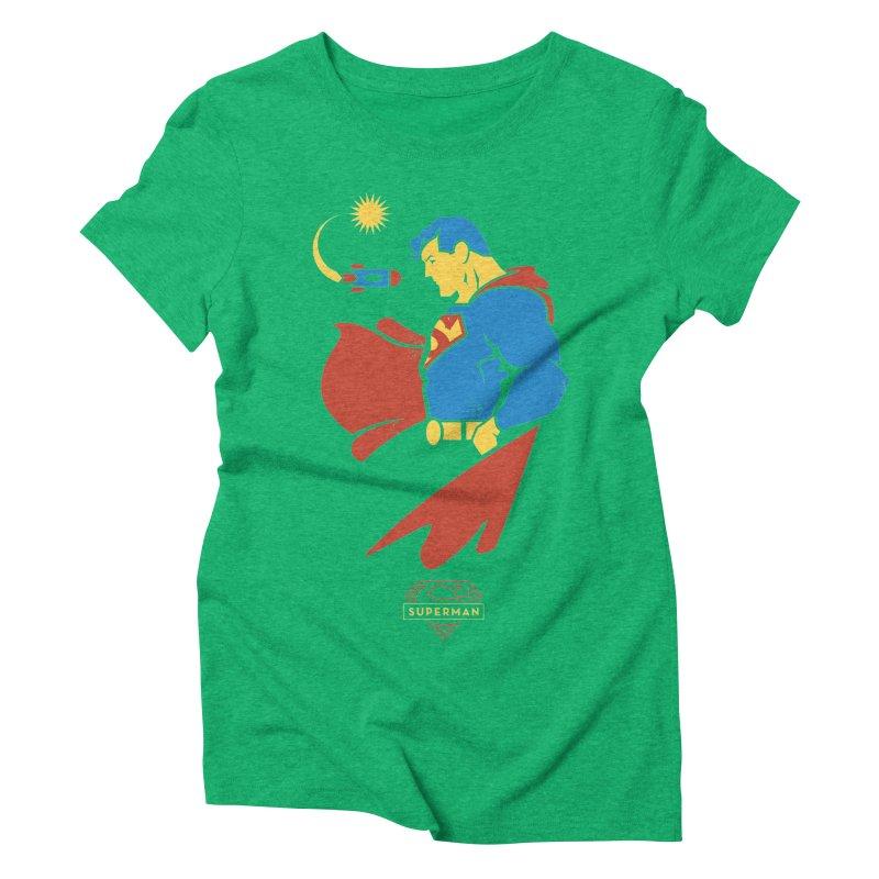Superman - DC Superhero Profiles Women's Triblend T-Shirt by daab Creative's Artist Shop