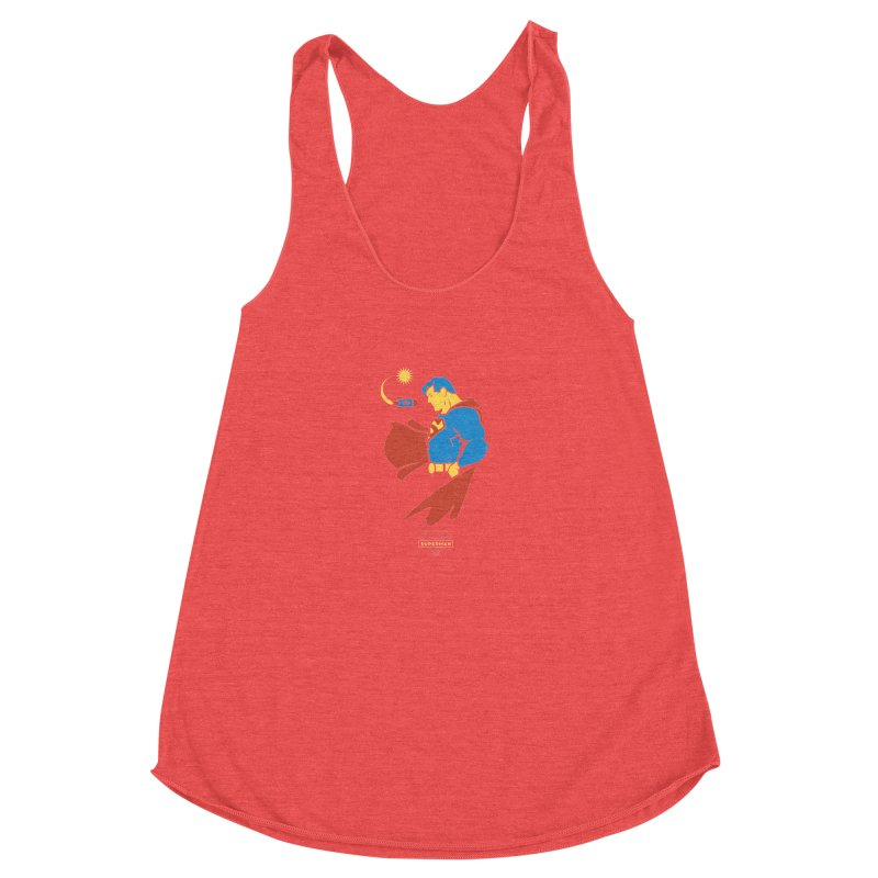 Superman - DC Superhero Profiles Women's Racerback Triblend Tank by daab Creative's Artist Shop