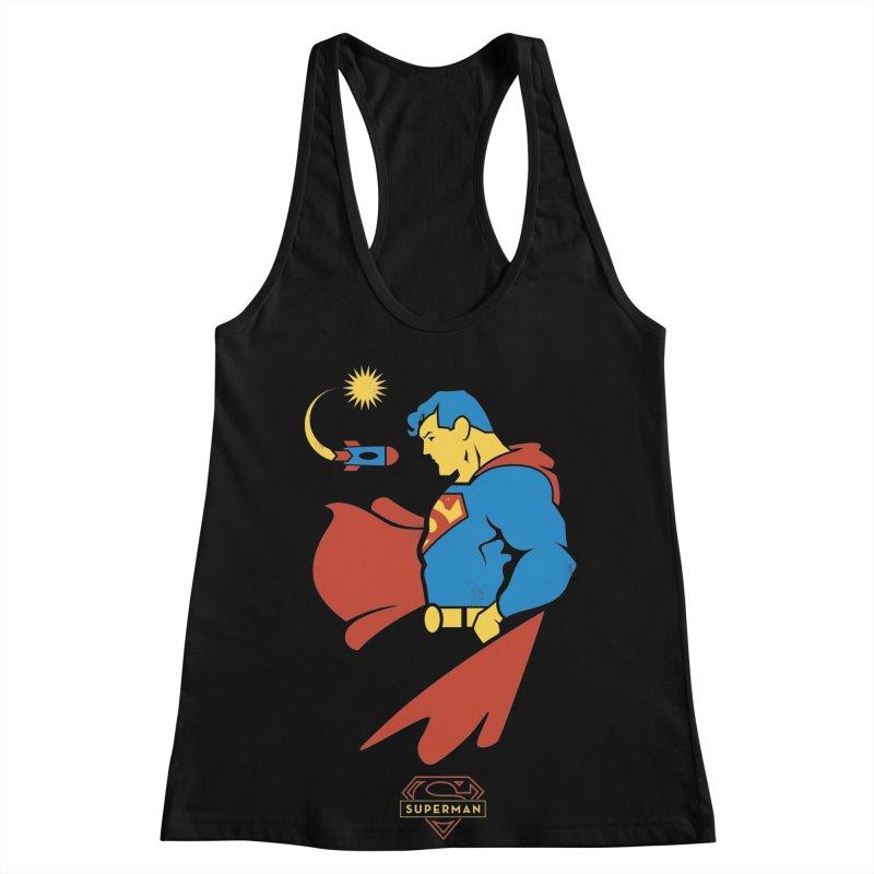 Superman - DC Superhero Profiles Women's Racerback Tank by daab Creative's Artist Shop