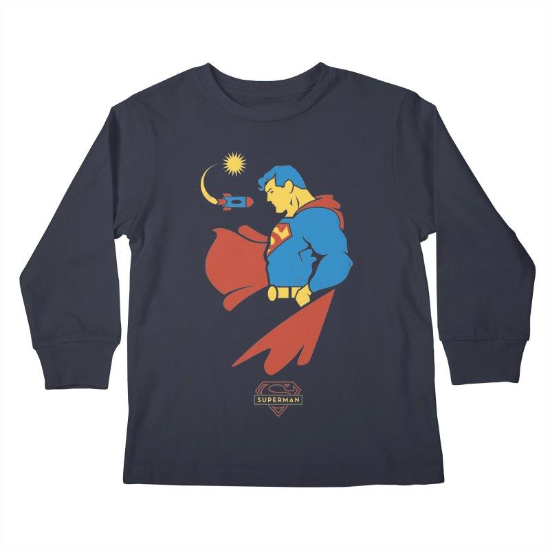 Superman - DC Superhero Profiles Kids Longsleeve T-Shirt by daab Creative's Artist Shop