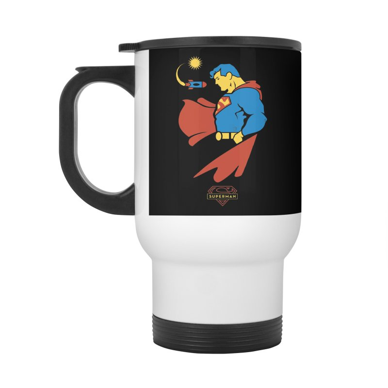 Superman - DC Superhero Profiles Accessories Travel Mug by daab Creative's Artist Shop