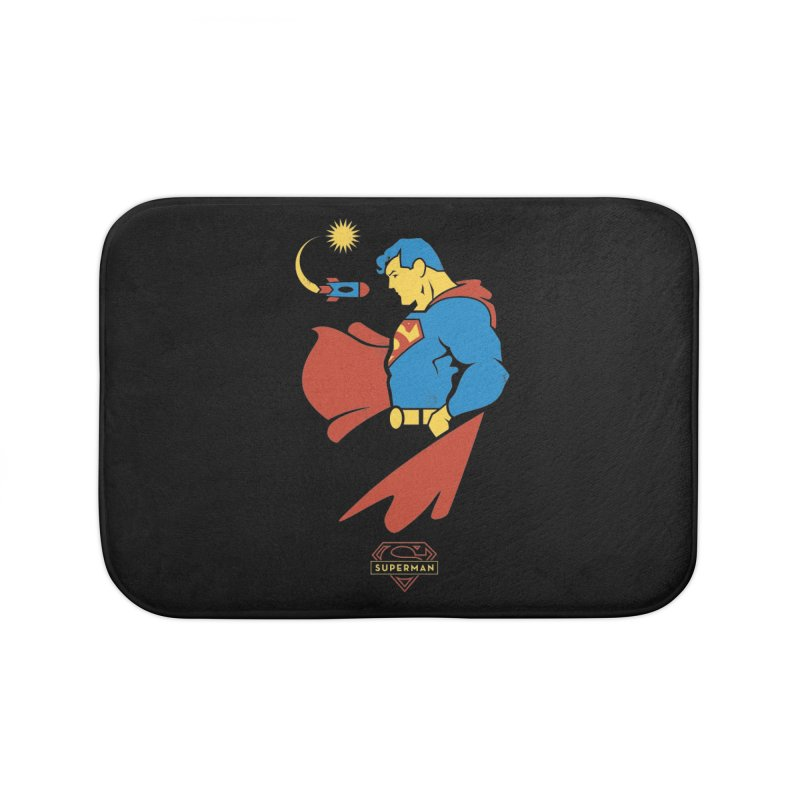 Superman - DC Superhero Profiles Home Bath Mat by daab Creative's Artist Shop