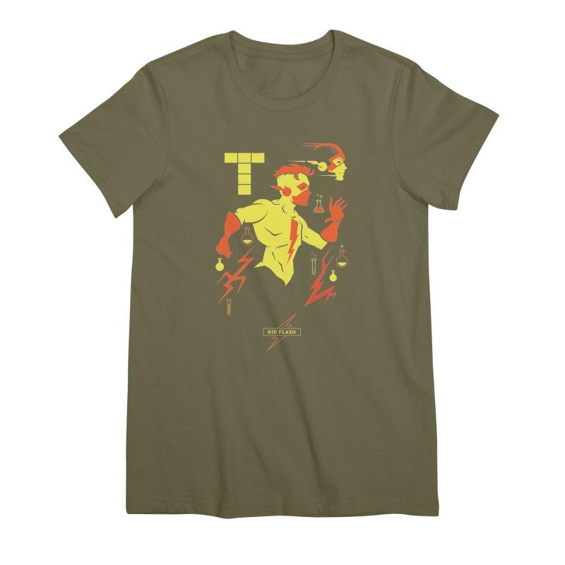 Kid Flash - DC Superhero Profiles Women's Premium T-Shirt by daab Creative's Artist Shop