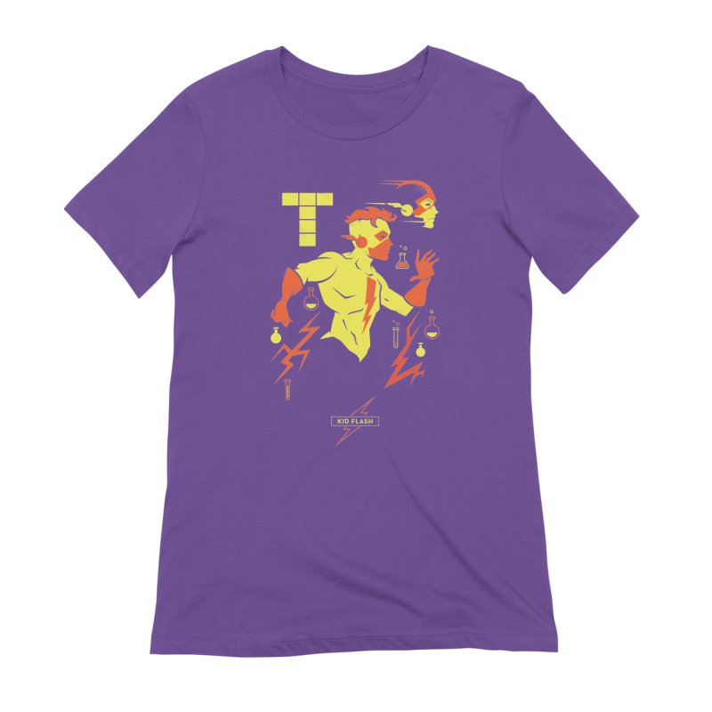 Kid Flash - DC Superhero Profiles Women's Extra Soft T-Shirt by daab Creative's Artist Shop