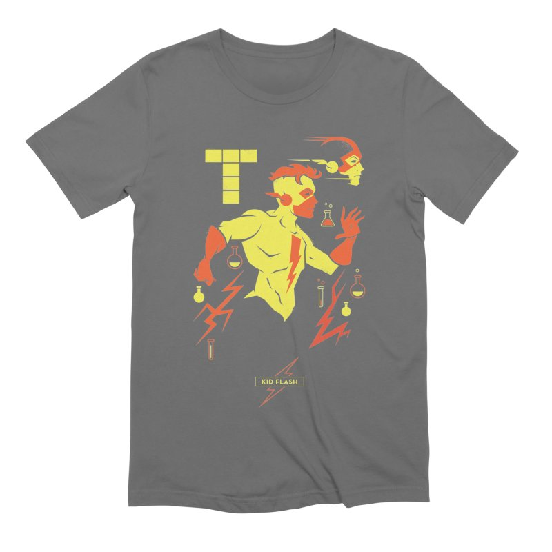 Kid Flash - DC Superhero Profiles Men's Extra Soft T-Shirt by daab Creative's Artist Shop