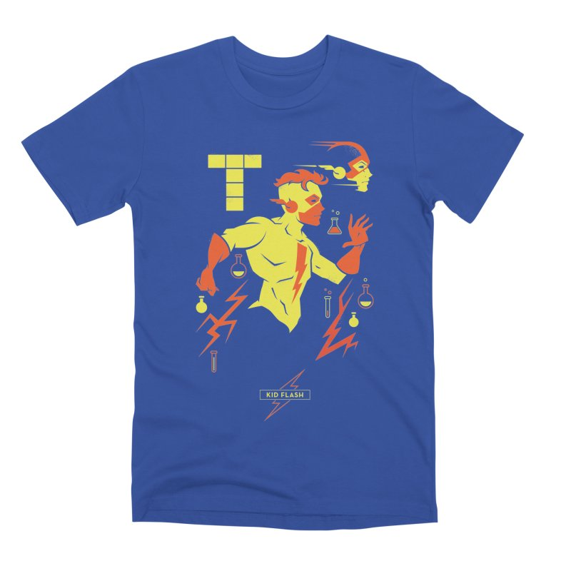 Kid Flash - DC Superhero Profiles Men's Premium T-Shirt by daab Creative's Artist Shop