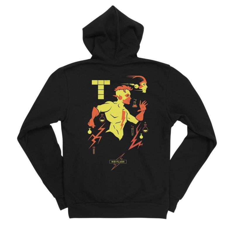 Kid Flash - DC Superhero Profiles Women's Sponge Fleece Zip-Up Hoody by daab Creative's Artist Shop