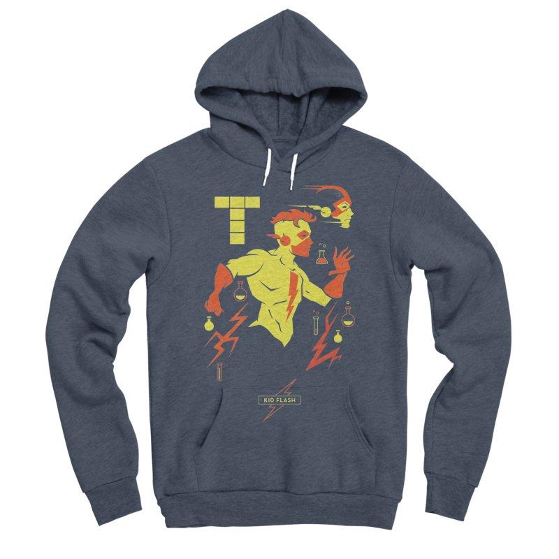 Kid Flash - DC Superhero Profiles Women's Sponge Fleece Pullover Hoody by daab Creative's Artist Shop