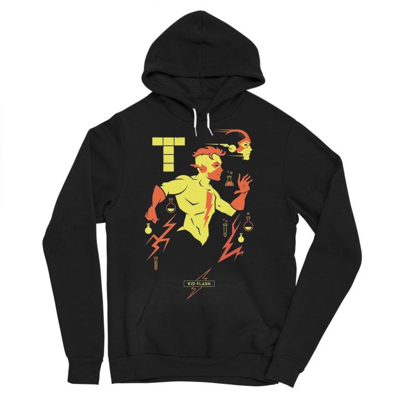 Kid Flash - DC Superhero Profiles Men's Sponge Fleece Pullover Hoody by daab Creative's Artist Shop
