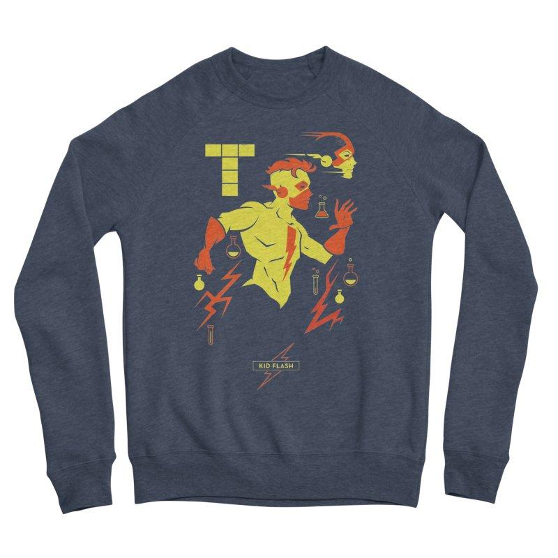 Kid Flash - DC Superhero Profiles Men's Sponge Fleece Sweatshirt by daab Creative's Artist Shop