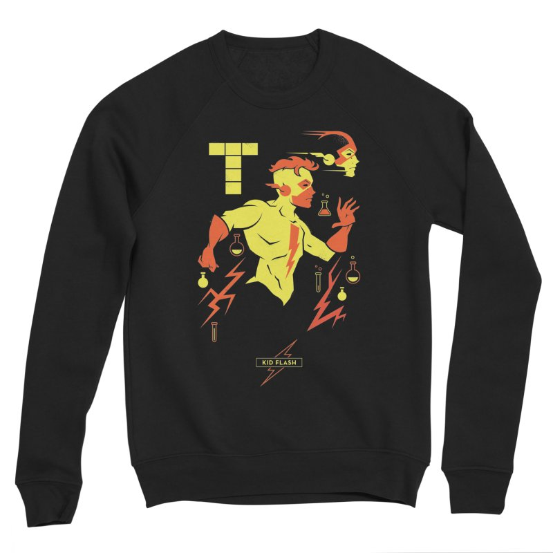 Kid Flash - DC Superhero Profiles Women's Sponge Fleece Sweatshirt by daab Creative's Artist Shop