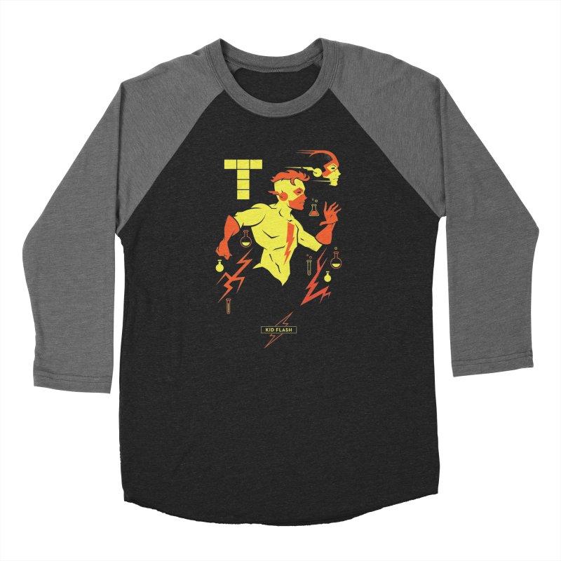 Kid Flash - DC Superhero Profiles Women's Longsleeve T-Shirt by daab Creative's Artist Shop