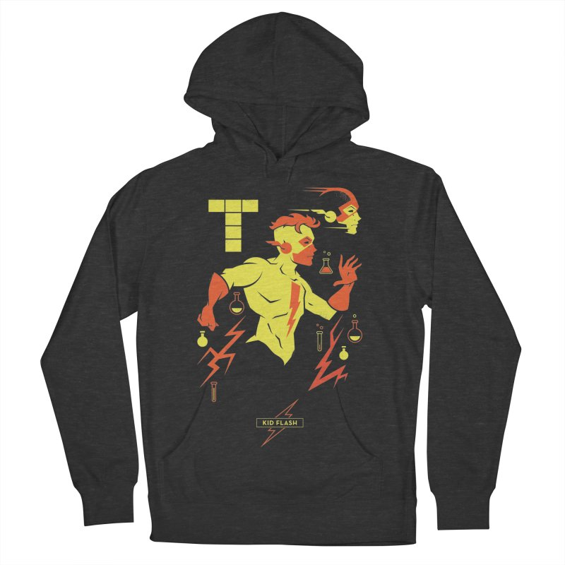 Kid Flash - DC Superhero Profiles Men's French Terry Pullover Hoody by daab Creative's Artist Shop