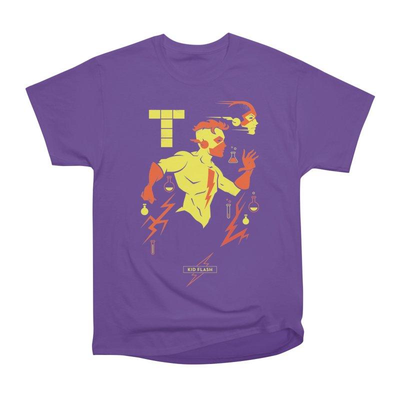 Kid Flash - DC Superhero Profiles Women's Heavyweight Unisex T-Shirt by daab Creative's Artist Shop