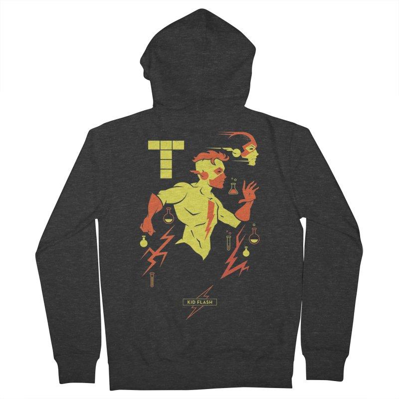 Kid Flash - DC Superhero Profiles Men's French Terry Zip-Up Hoody by daab Creative's Artist Shop