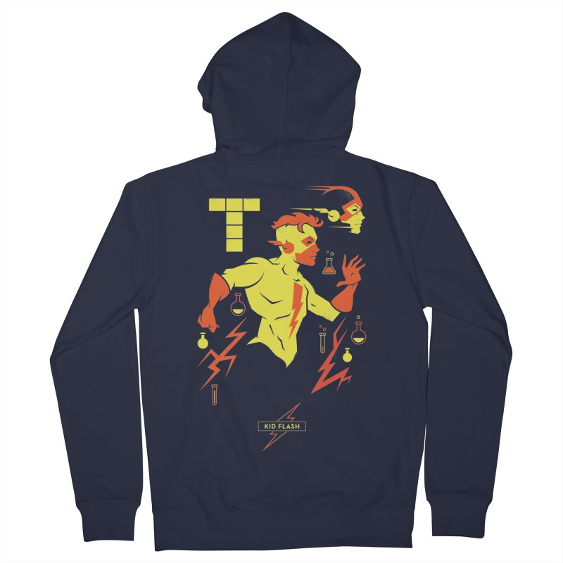 Kid Flash - DC Superhero Profiles Men's French Terry Zip-Up Hoody by daab Creative's Artist Shop