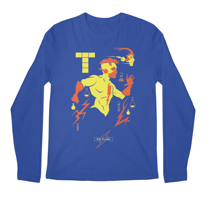 Kid Flash - DC Superhero Profiles Men's Regular Longsleeve T-Shirt by daab Creative's Artist Shop