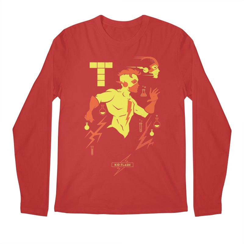 Kid Flash - DC Superhero Profiles Men's Regular Longsleeve T-Shirt by daab Creative's Artist Shop