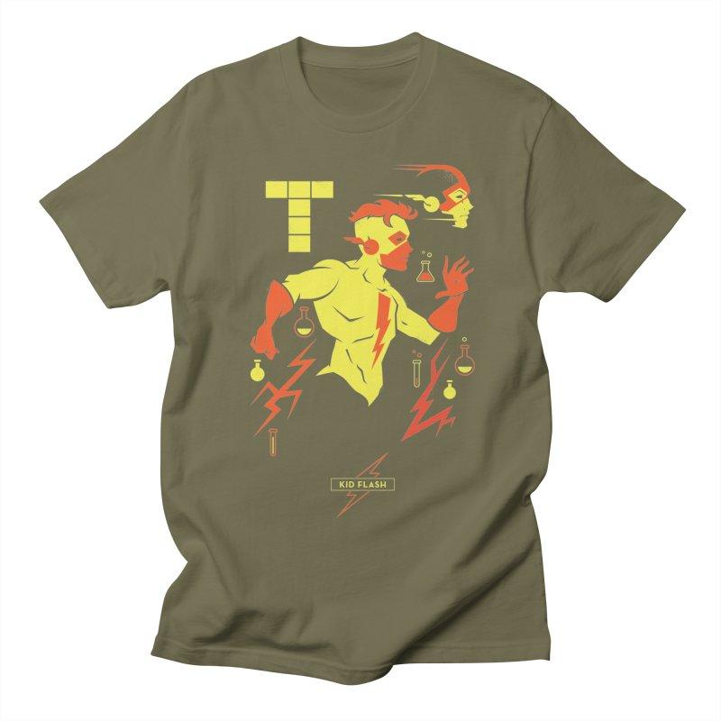 Kid Flash - DC Superhero Profiles Women's Regular Unisex T-Shirt by daab Creative's Artist Shop