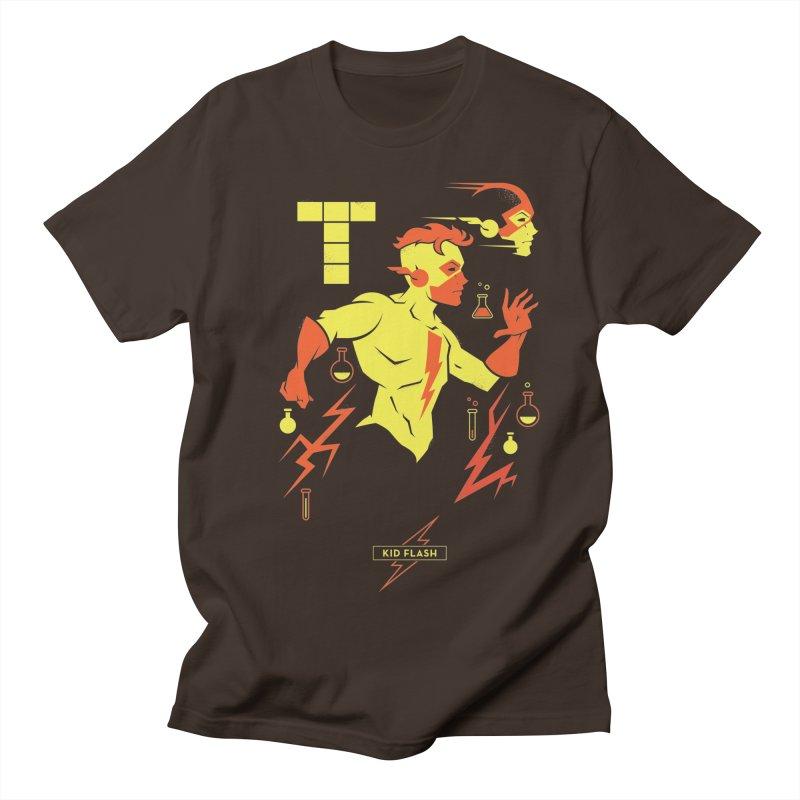 Kid Flash - DC Superhero Profiles Men's Regular T-Shirt by daab Creative's Artist Shop