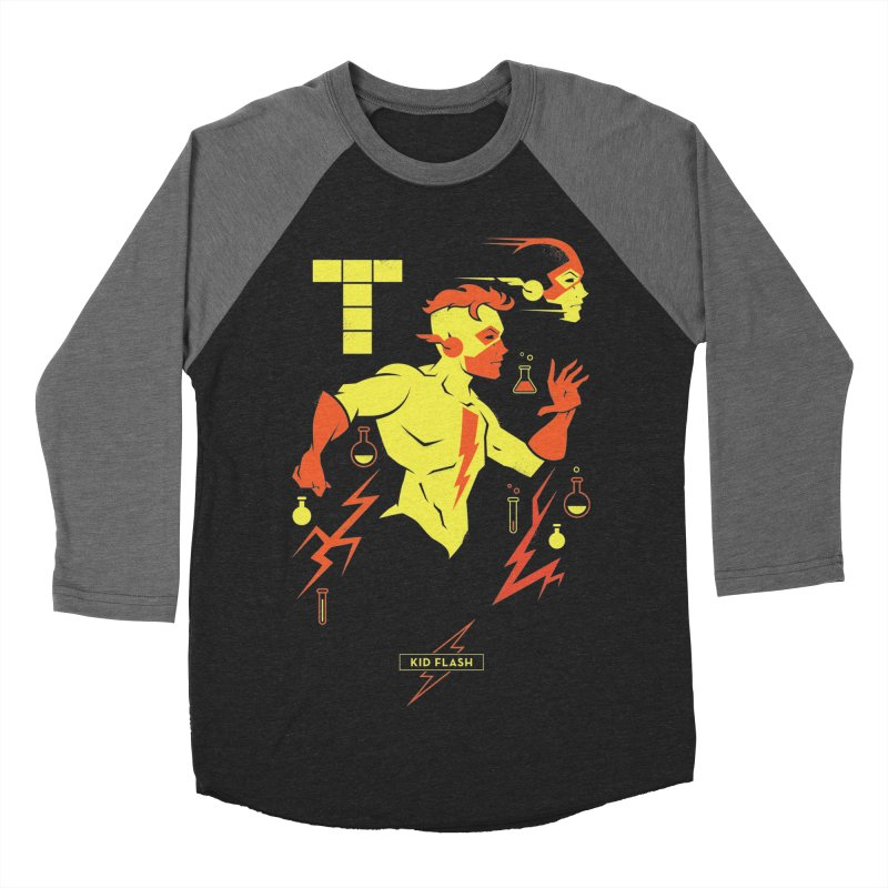 Kid Flash - DC Superhero Profiles Women's Baseball Triblend Longsleeve T-Shirt by daab Creative's Artist Shop