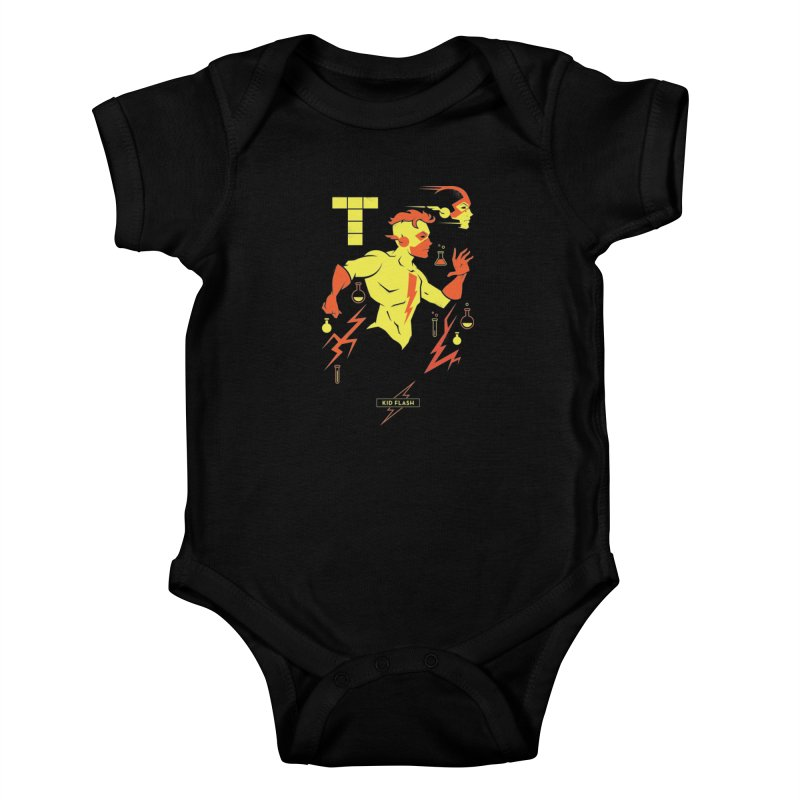 Kid Flash - DC Superhero Profiles Kids Baby Bodysuit by daab Creative's Artist Shop