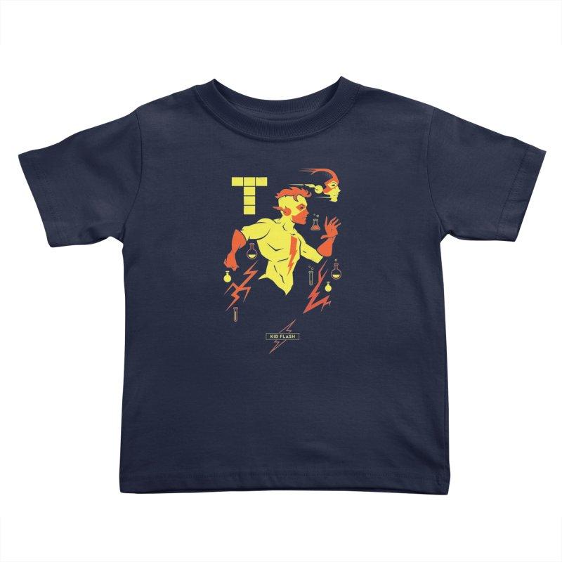 Kid Flash - DC Superhero Profiles Kids Toddler T-Shirt by daab Creative's Artist Shop