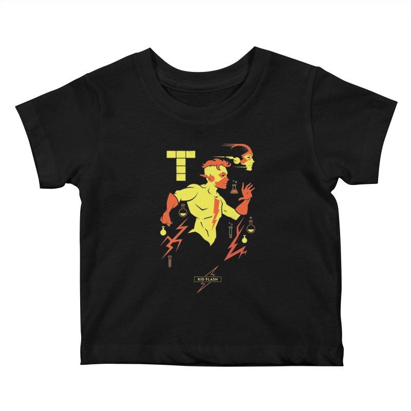Kid Flash - DC Superhero Profiles Kids Baby T-Shirt by daab Creative's Artist Shop